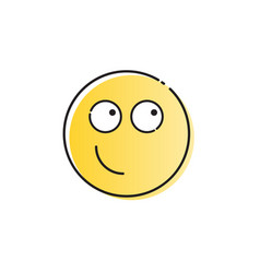 yellow smiling cartoon face positive people vector image vector image