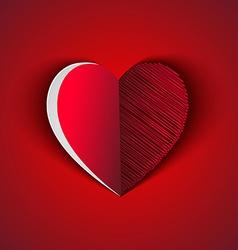 heart shape greeting card vector image