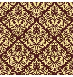 Ornate brown and yellow seamless arabesque pattern vector image vector image