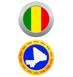 button as a symbol MALI vector image