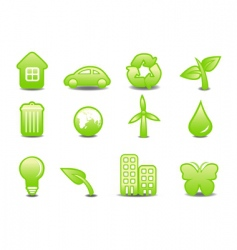 ecological signs vector image