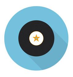 flat vinyl music record vector image