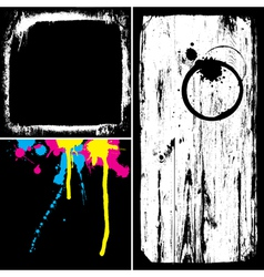 grunge elements overlay vector image vector image