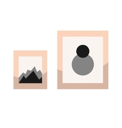 Images in frames on wall vector image vector image