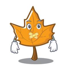 Silent maple character cartoon style vector