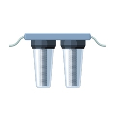 Water filters icon in cartoon style isolated on vector