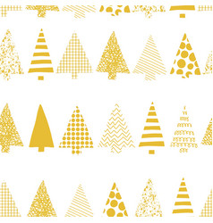 abstract christmas tree row pattern vector image