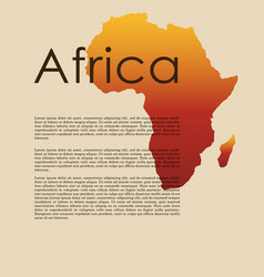 Abstract map africa vector