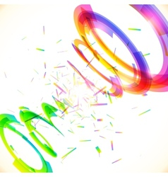Abstract rainbow colors tornado vector