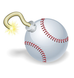 Baseball countdown bomb vector