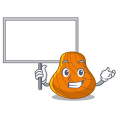 bring board hard shell character cartoon vector image