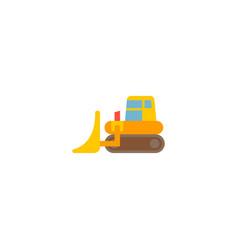 bulldozer icon flat element vector image
