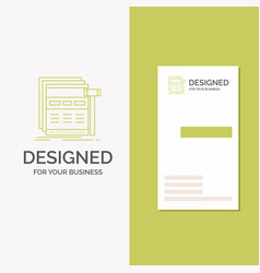 business logo for internet page web webpage vector image