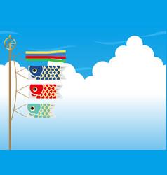 carp streamers for the japanese boys festival vector image
