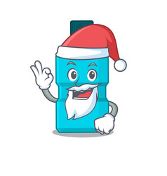 character mouthwash santa with cute ok finger vector image