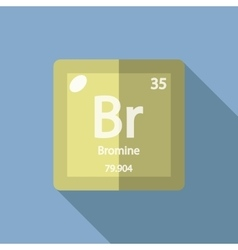 Chemical element Bromine Flat vector