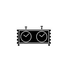 chess clock icon vector image