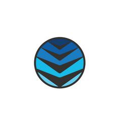 circle arrow technology logo vector image
