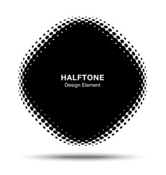 Convex halftone distorted angle rounded square vector