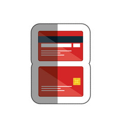 credit cards isolated icon vector image