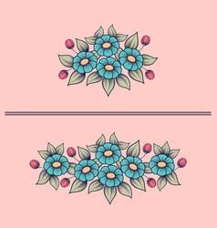 daisy cute bouquets vector image