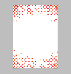 Diagonal square pattern page background template vector