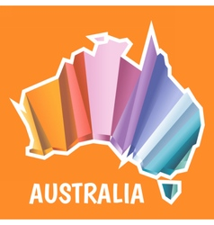Digital australia map with abstract colored vector image