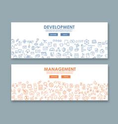 doodle design style concept banner development vector image