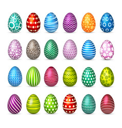 easter eggs set spring holidays in april gift vector image