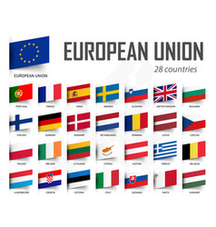 European union flag eu and membership europe vector