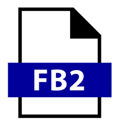 File name extension fb2 type vector