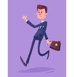 Funny business man character Isolated vector image