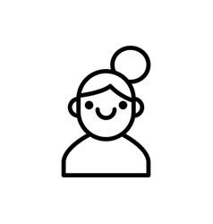 girl icon women icon vector image