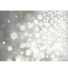 Glitter silver background vector