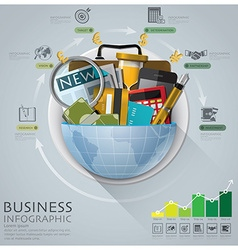 Global Business And Financial Infographic With vector