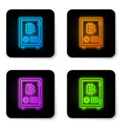 Glowing neon prostake icon isolated on vector