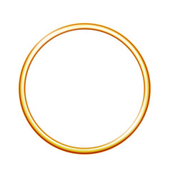 Golden metal ring isolated on white background vector