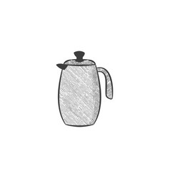 hand drawn tea pot jar logo inspiration isolated vector image