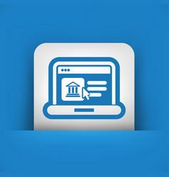 Historical website icon vector