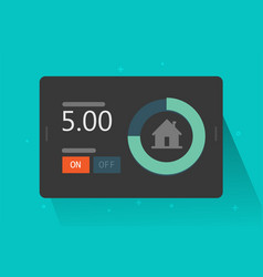 home automation technology system smart app on vector image