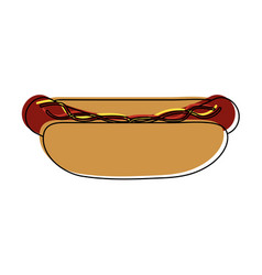 Hot dog fast food icon image vector