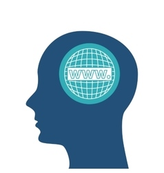 human head design Creativity and think concept vector image