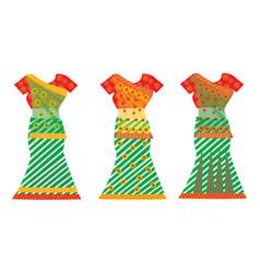 Indian dresses vector