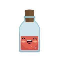 kawaii cute bottle glass medical vector image