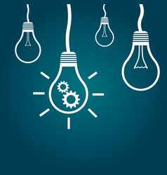light bulb idea flat vector image