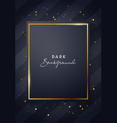 luxury dark black and gold poster template vector image
