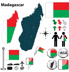 Madagascar map vector