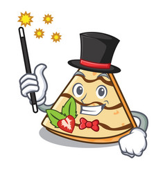 Magician crepe mascot cartoon style vector