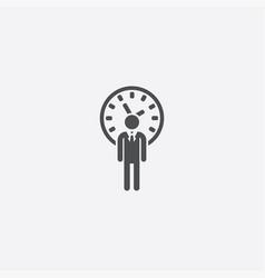 Man time icon vector