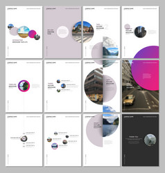 minimal brochure templates with colorful gradient vector image
